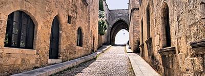 προσβάσιμη μεσαιωνική πόλη στη Ρόδο